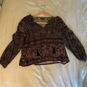 an american eagle xs boho loose shirt